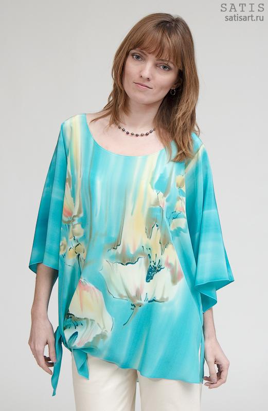 Шелковая Блузка Для Полных Доставка