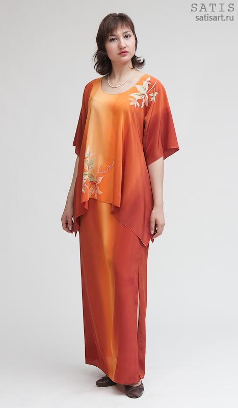 Шелковые костюмы женские
