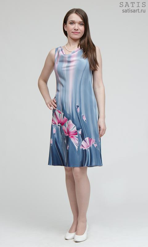 Платье маленькое из шелка