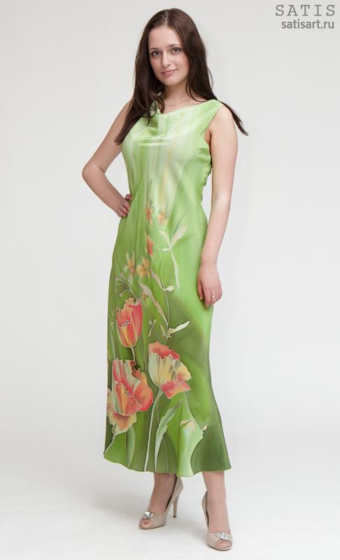 Купить Платье Из Натурального Шелка В Интернет Магазине