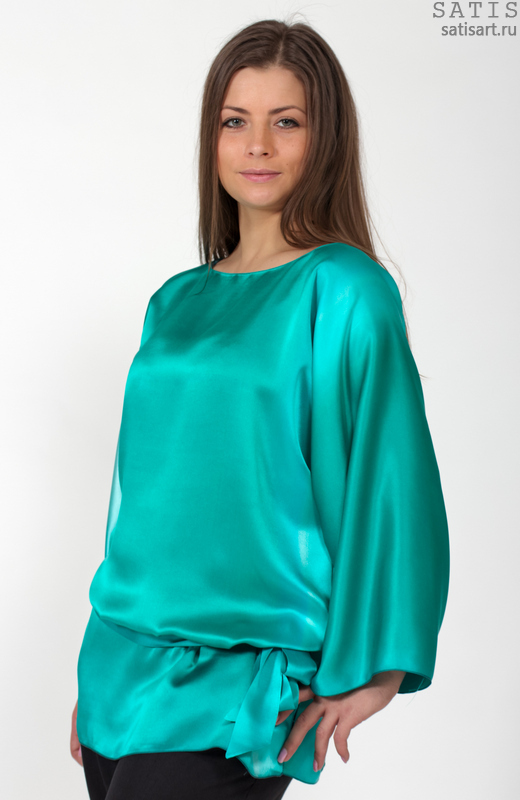 Красивые Блузки Из Шелка В Омске