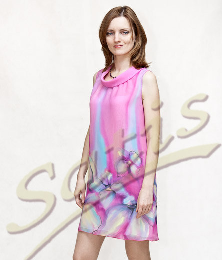 модели шелковых платьев