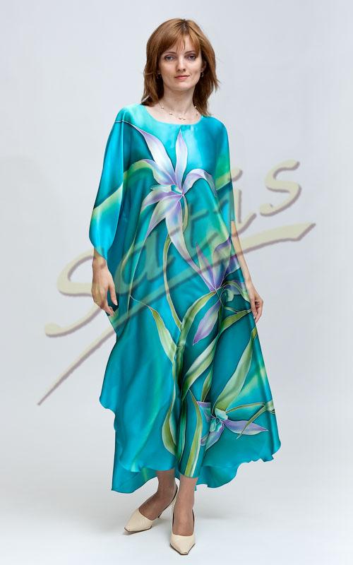 Платье туника из шелка доставка