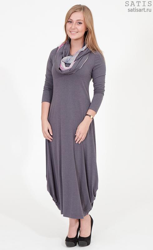 Трикотажное Платье Зима Купить