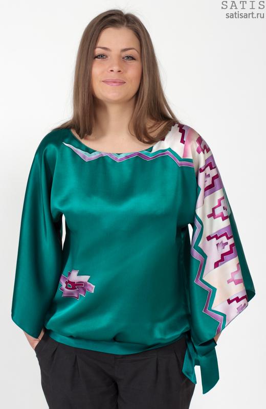 Блузки Из Шелка Купить
