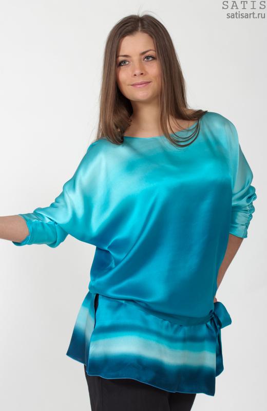 Купить Блузку Натурального