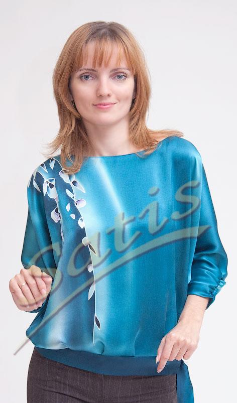 02c0246f65d Блуза шёлковая Вистерия в интернет-магазине Сатис