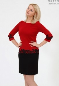 dress-trikotazh-short-red-kruzhevom2
