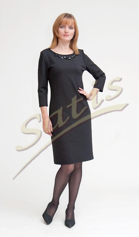 прямое платье из трикотажа фото - Мода